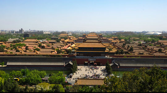 Stunning views of the Forbidden City from Jingshan