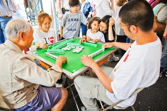 Mahjong is commonly played by four players in China now.