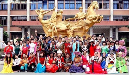 4.A melting pot of all Chinese minorities and perhaps nationals of all countries in the world