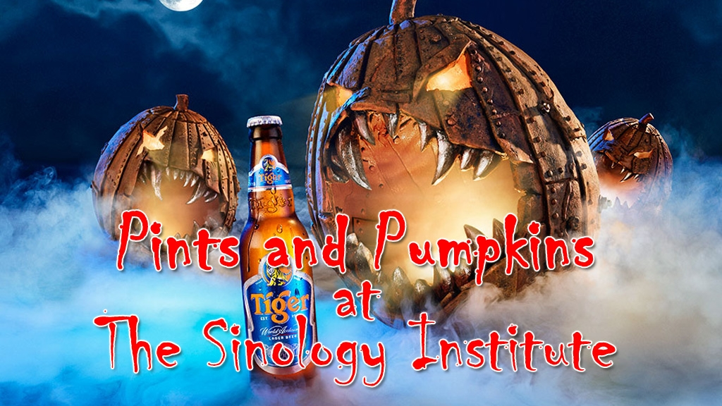 Pints and Pumpkins at the sinology institute
