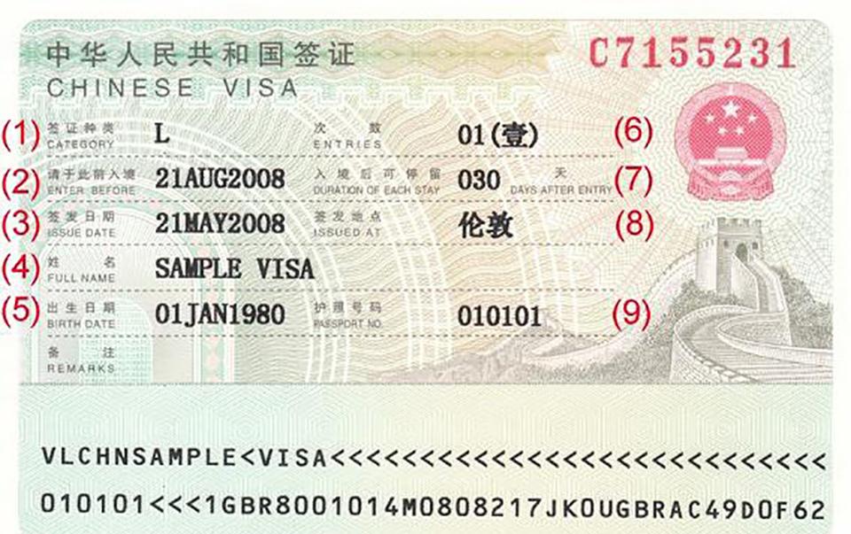 Visas for China